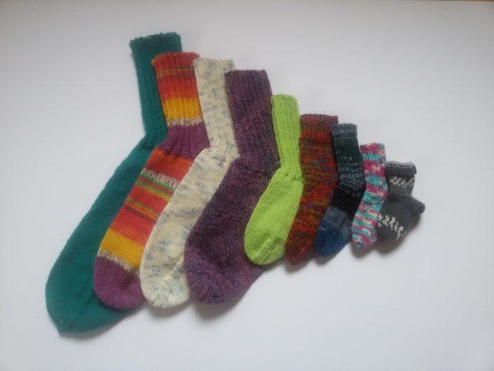 gestrickte Socken, handgestrickte Socken, Wollsocken, Handarbeitseckle