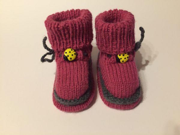 gestrickte Babyschuhe Booties Handarbeitseckle
