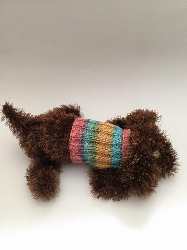 Hund gestrickt Unikat Handarbeitseckle