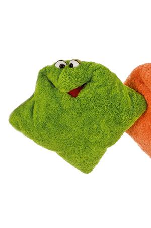 Kissen grün Living Puppets Handarbeitseckle