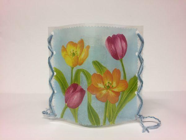 Deko-Hülle Windlicht oder Vase Handarbeitseckle