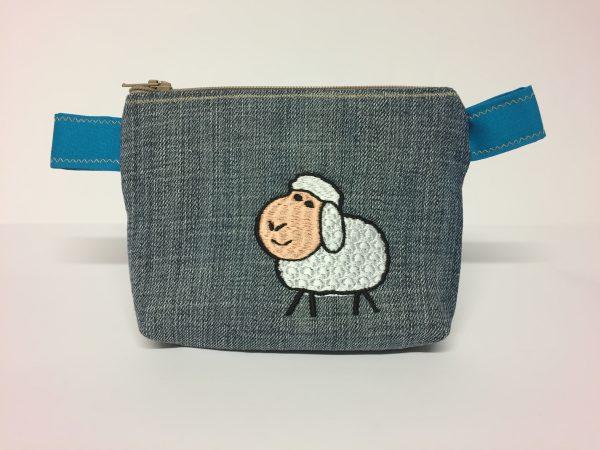 kleine Tasche Schaf Handarbeitseckle