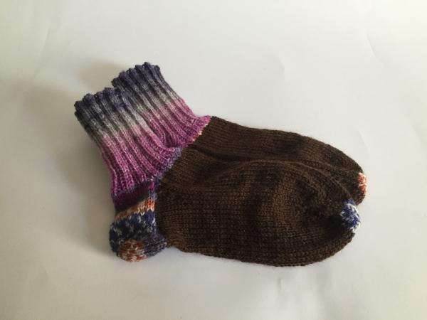 gestrickte Socken Handarbeitseckle