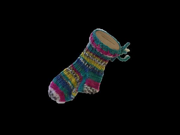 Sparstrumpf mit Musik gestrickt Handarbeitseckle