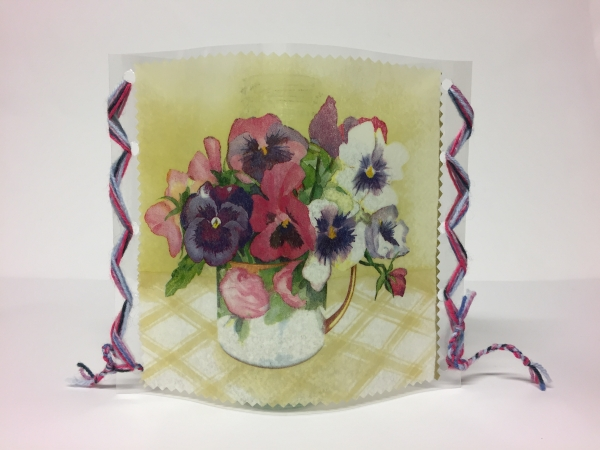 Windlichthülle Vasenhülle Tischdeko Windlicht Dekolicht Handarbeitseckle