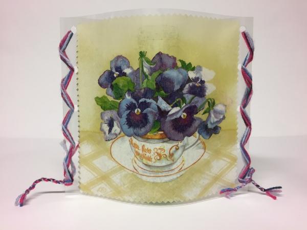 Windlichthülle Vasenhülle Tischdeko Dekolicht Handarbeitseckle