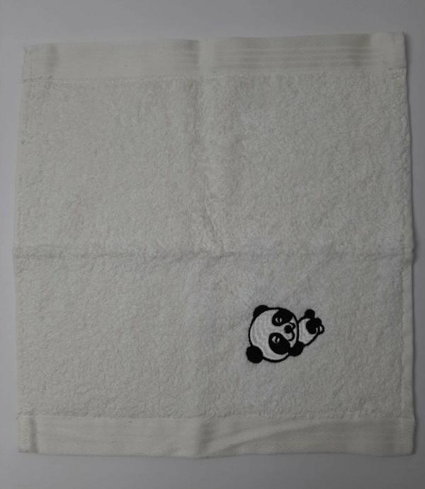 Handtuch bestickt Panda Handarbeitseckle